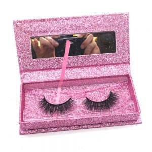 Box design for lashes professional faux mink lashes with private label