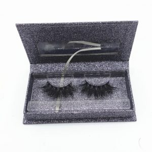 Korea natural false lashes extensions 47 volume faux mink eyelash with packaging
