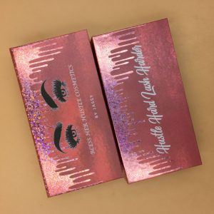 Rose Glitter Dripping Lash Boxes